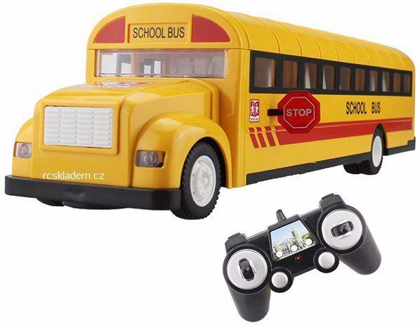 RC model školní autobus s otvíracími dveřmi 33cm