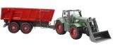 Traktor se lžící a vyklápěcím návěsem na dálkové ovládání 48cm