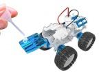 Stavebnice futuristického vesmírného vozidla poháněného slanou vodou