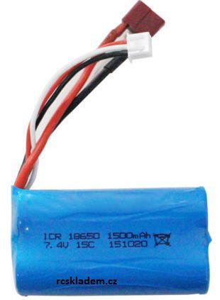 Baterie Li-Ion 1500mAh 7.4V s T konektorem