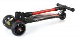 Luxusní dětské odrážedlo se světélkujícími koly, nastavitelnými řídítky a odolnou brzdou červené