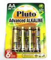 Alkalické baterie Pluto 1.5V AAA (4ks)