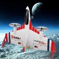 FIGHTER X520 VTOL RC nadčasové letadlo s GYRO stabilizací a barometrem, bílé
